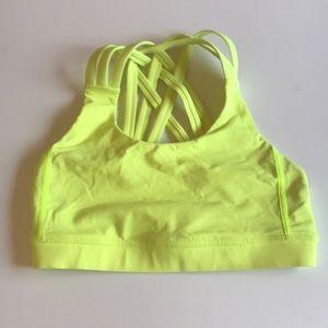Lululemon size 4 Bright Yellow Sports Bra